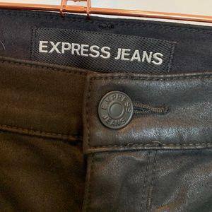 Shiny Black Denim Sexy Skinny Jeans
